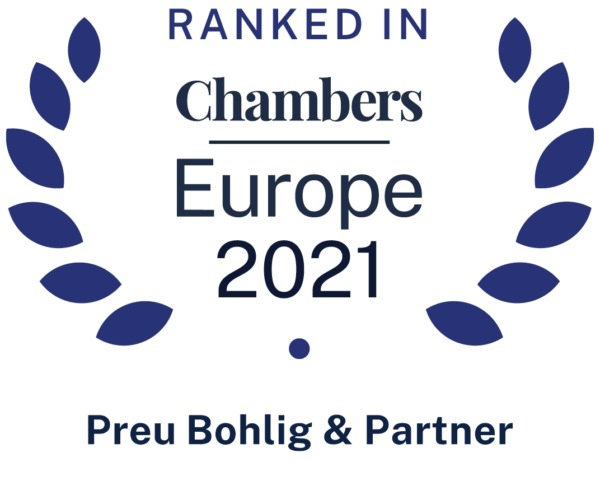 """Chambers Europe 2021 – """"Healthcare & Life Sciences"""""""